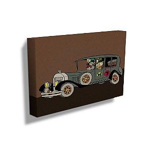 Quadro / Tela Retangular Hanna Barbera Corrida Maluca Quadrilha da Morte - 50 x 70 cm