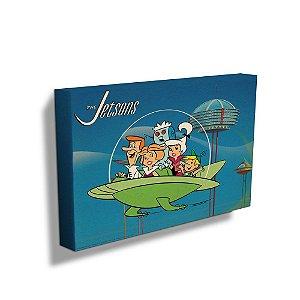 Quadro / Tela Retangular Hanna Barbera Os Jetsons Passeio em Família - 40 x 50 cm