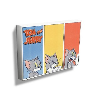 Quadro / Tela Retangular Hanna Barbera Tom and Jerry Different Faces - 40 x 50 cm