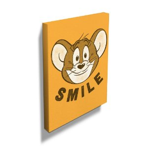 Quadro / Tela Retangular Hanna Barbera Tom and Jerry Mouse Smile - 70 x 50 cm