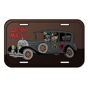Placa Retangular Decorativa de Metal Hanna Barbera Corrida Maluca Quadrilha da Morte - 15 x 30 cm