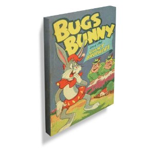 Quadro / Tela Retangular Looney Tunes Vintage Collection Bugs Bunny and the Giants - 70 x 50 cm