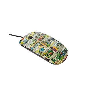 Mouse com Fio DC Comics Quadrinhos Coloridos