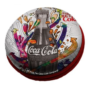 Caixa de Som Redonda Coca-Cola Party Contour Bottle - 8 cm