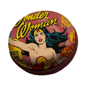 Caixa de Som Redonda DC Comics Wonder Woman - 8 cm