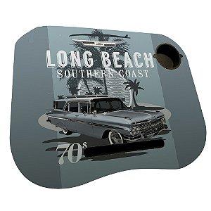 Mesa / Suporte para Notebook com Porta Copo GM Vintage Long Beach Southern Coast - 38 x 48 cm