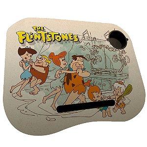Mesa / Suporte para Notebook com Porta Copo Hanna Barbera Os Flintstones Dançando - 38 x 48 cm