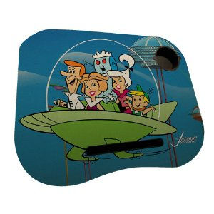 Mesa / Suporte para Notebook com Porta Copo Hanna Barbera Os Jetsons Passeio em Família - 38 x 48 cm