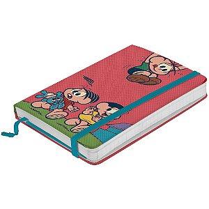 Caderneta de Anotação com Elástico 100 Folhas Turma da Mônica Procurando pelo Cebolinha - 21 x 14 cm