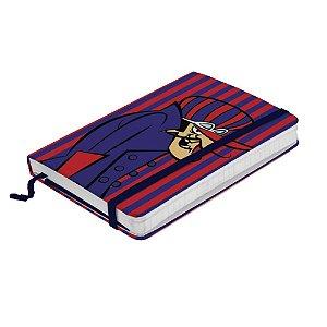 Caderneta de Anotação c/ Elástico 80 Folhas Hanna Barbera Corrida Maluca Dick Vigarista - 21 x 14 cm