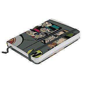 Caderneta de Anotação com Elástico 80 Folhas HB Corrida Maluca Quadrilha da Morte - 21 x 14 cm