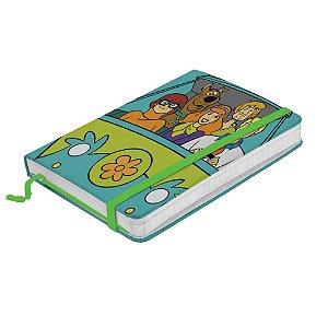 Caderneta de Anotação c/ Elástico 80 Fls HB Scooby-Doo Everybody in the Mystery Machine - 21 x 14 cm