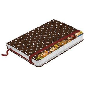 Caderneta de Anotação com Elástico 80 Fls Hanna Barbera Scooby-Doo e sua Turma Espiando - 21 x 14 cm