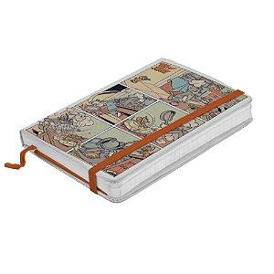 Caderneta de Anotação com Elástico 100 Folhas Hanna Barbera Tom and Jerry Comics - 14 x 10 cm