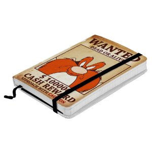 Caderneta de Anotação com Elástico 100 Folhas Looney Tunes Eufrazino Procurado - 14 x 10 cm