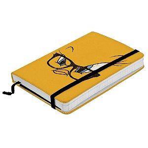 Caderneta de Anotação com Elástico 100 Folhas Looney Tunes Piu-Piu - 21 x 14 cm