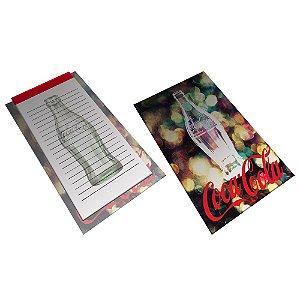 Bloco de Anotações com Prancheta Coca-Cola Light and Bright Bottle - 21 x 15 cm