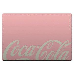 Conjunto de Jogo Americano e Porta Copos Coca-Cola Contemporary Pink  / White - 4 Peças
