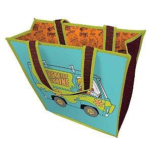 Bolsa / Sacola de Plástico Azul / Verde Hanna Barbera Scooby-Doo The Mystery Machine - 40 cm