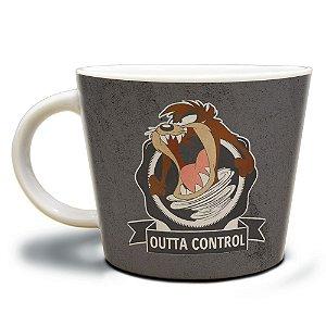 Caneca Jumbo de Porcelana Looney Tunes Taz Outta Control - 320 ml