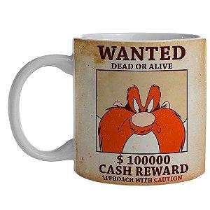 Caneca de Porcelana Looney Tunes Eufrazino Procurado - 300 ml