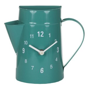 Relógio de Parede Decorativo de Metal Garden Blue - 21 x 18 cm