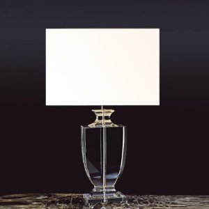Base para Abajur Classic em Metal e Vidro 1 x E27 Cromado e Transparente Bella Iluminação - 43 cm