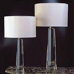 Base para Abajur Classic em Metal e Vidro 1 x E27 Cromado e Transparente Bella Iluminação - 49 cm