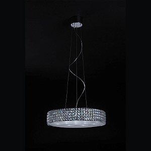 Pendente Sonata LED 18 x 3W Cromado e Transparente Bella Iluminação 220V - 60 cm