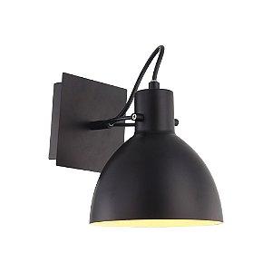 Arandela Haus de Metal 1 x E27 Preto Bella Iluminação - 21 x 19 cm