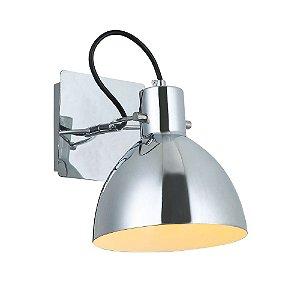 Arandela Haus de Metal 1 x E27 Cromado Bella Iluminação - 21 x 19 cm