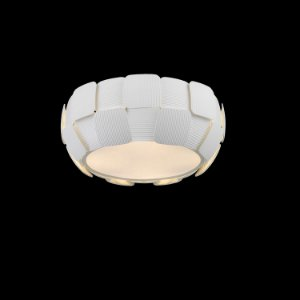 Plafon Vega 2 x E27 Branco Bella Iluminação - 16 x 36 cm