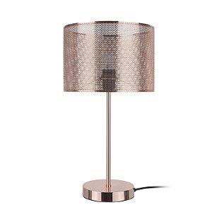 Abajur Telinha 1 x E27 Cobre Bella Iluminação - 48 x 26 cm