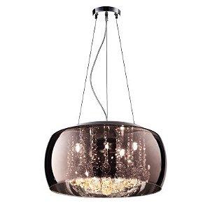 Pendente / Plafon Soho 6 x G9 Café e Transparente Bella Iluminação - 20 x 50 cm