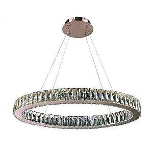 Lustre Aura LED 32W Cobre e Transparente Bella Iluminação - 200 x 80 cm