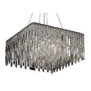 Pendente Charm 13 x G9 Cromado e Transparente Bella Iluminação - 58 cm