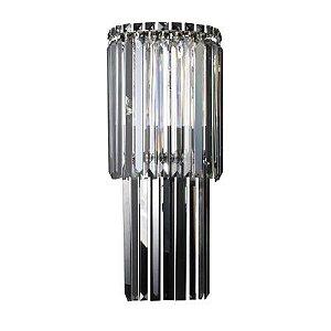 Arandela Charm 3 x G9 Cromado e Transparente Bella Iluminação - 60 x 25 cm