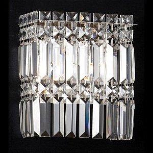Arandela Charm 2 x G9 Cromado e Transparente Bella Iluminação - 24 x 20 cm