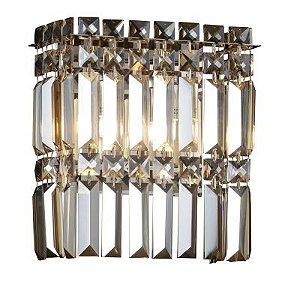 Arandela Charm 2 x G9 Âmbar e Cromado Bella Iluminação - 24 x 20 cm