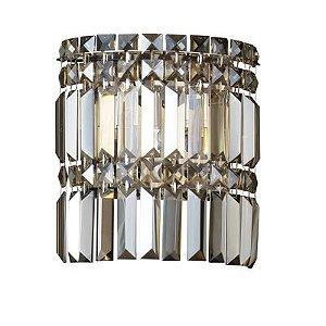 Arandela Charm 2 x G9 Âmbar e Cromado Bella Iluminação - 24 x 22 cm