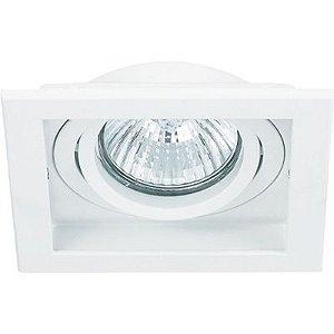 Spot Embutido Quadrado Conecta 1 x Dicróica Branco Bella Iluminação - 10,2 cm