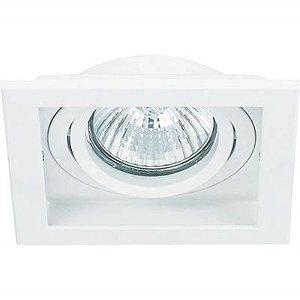 Spot Embutido Quadrado Conecta 1 x PAR30 Branco Bella Iluminação - 18,2 cm