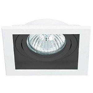Spot Embutido Quadrado Conecta 1 x PAR20 Branco / Preto Bella Iluminação - 13 cm