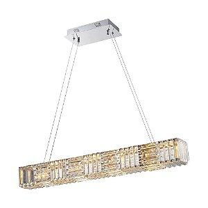 Pendente Pyxis LED 32W Cromado e Transparente Bella Iluminação - 200 x 90 cm