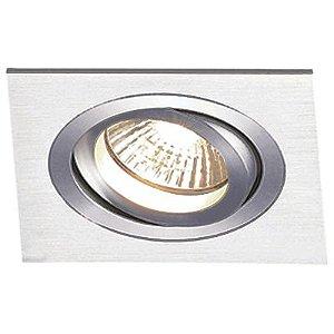 Spot Embutido Quadrado Ecco 1 x AR11 Alumínio Escovado Bella Iluminação - 17 cm