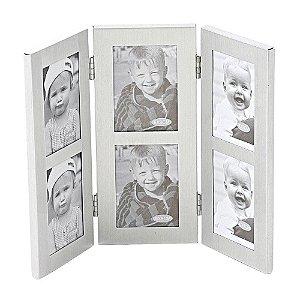 Porta-Retrato de Aluminium Natural para 6 fotos - 20 x 27 cm
