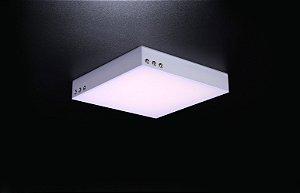Plafon LED Sobrepor de Acrílico e Alumínio Agata Branco - Bella Italia