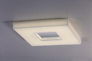 Plafon LED Sobrepor de Acrílico e Alumínio Domenica Branco com Espelho - Bella Italia