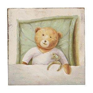 Quadro de Madeira Ursinho 20 x 20 cm
