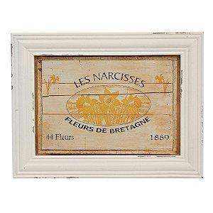 Quadro Decorativo de Madeira Les Narcisses 42 x 32 cm